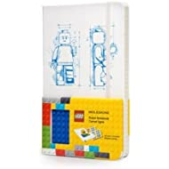 Moleskine LEGO Limited Edition Notebook II, Large, Ruled, White, Hard Cover (5 x 8.25)