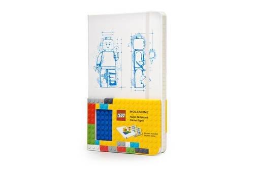 Moleskine LEGO Limited Edition Notebook II, Large, Ruled, White, Hard Cover (5 x 8.25)