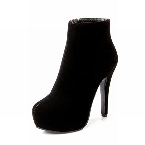 Charm Foot Womens Platform High Heel Dress Ankle Boots Black dLtJXpa
