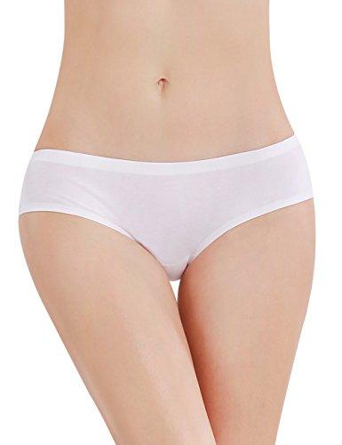 liqqy 3Pack de algodón de cobertura de encaje mujer breve panty Ropa interior sin costuras Black/Pink/White