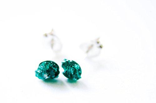 Costume Brooches Australia (Dioptase Earrings - Bohemian Earrings - Raw Crystal & Gemstone Holiday Gift)