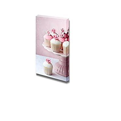 Canvas Prints Wall Art - Cupcakes with Pink Background - 24