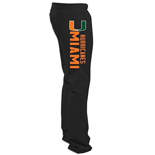 Men's Miami Hurricanes Sweatpants Black M Sweat Pants