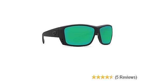 0dd1d021667 Amazon.com  Costa Del Mar Cat Cay 580G Polarized Sunglasses in Blackout    Green Mirror Lens  Clothing