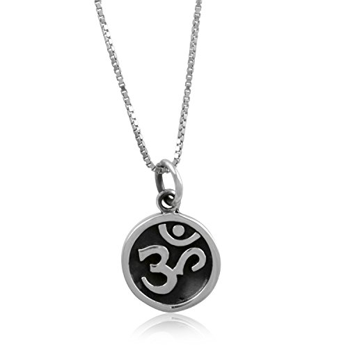 Sterling Silver Om Sign Necklace