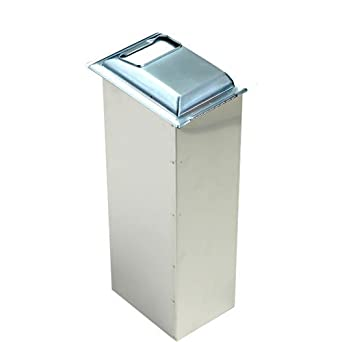 "San Jamar H2000 Stainless Steel In-Counter Minifold Napkin Dispenser, 750 Plus Capacity, 7"" Width x 19-5/8"" Height x 5-1/2"" Depth, Chrome"