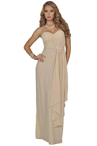 15528f94c7 Strapless Sweetheart Ruched Gathered Rhinestone Sheer Draped Elegant Gown