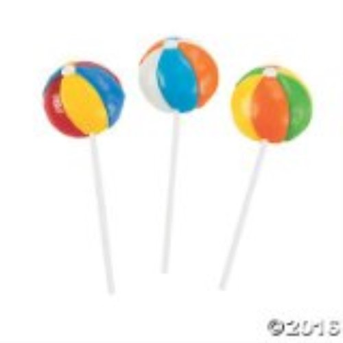 Beach Ball Lollipops - 12 ct