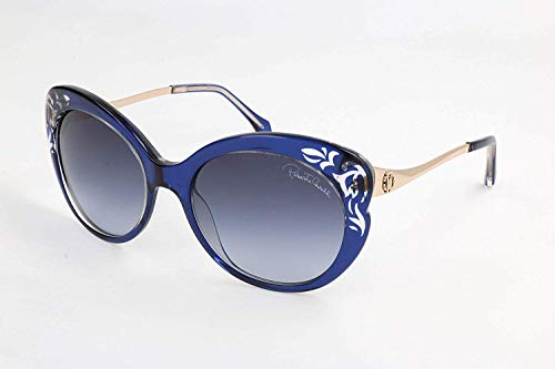 (Roberto Cavalli Women's RC900S Sunglasses BLUE 55)
