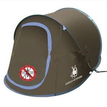 Speed offen 3–4 Personen Vollautomatische Regendicht Sonnenschutz Camping Camping Free Konstruktion Outdoor Werfen Zelte