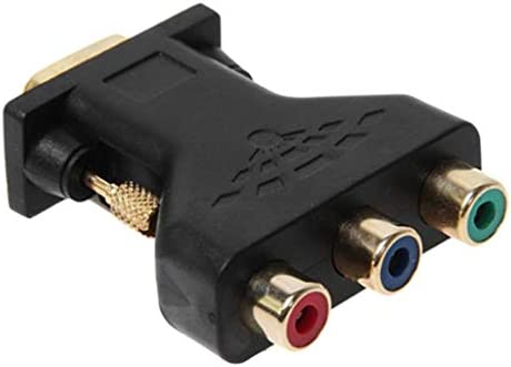 コンポーネントビデオジャック 3 RCA RGB ビデオ メス to 15ピン VGA オス 変換アダプタ