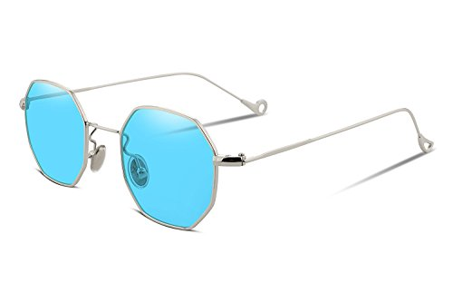 NYMSM Classic Mirrored Flat Lens Sunglasses Metal Frame Sunglasses , 100% UV400 - Kapalua Sunglasses