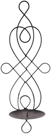 クリスマスキャンドルホルダーキャンドルホルダー金属鉄燭台キャンドルホルダー家の装飾の装飾品壁掛け壁取り付け用燭台50Xx131、W