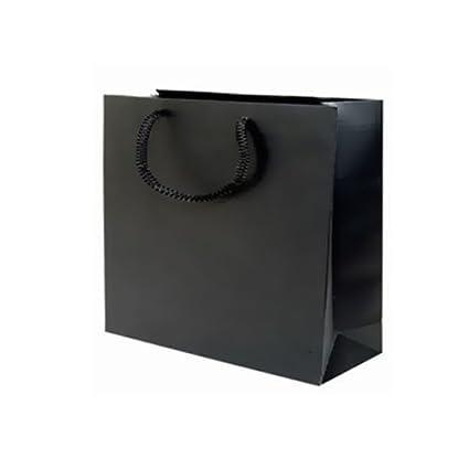 Bolsas de cartón negro, 11x11cm, 8 piezas: Amazon.es ...
