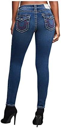 True Religion Women's Halle Big T Super Skinny Stretch Jeans in Stateside