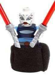 Star Wars Clone Wars Ventress (Asajj Ventress - LEGO Star Wars Clone Wars Mini Figure with Dual Red Lightsabers)