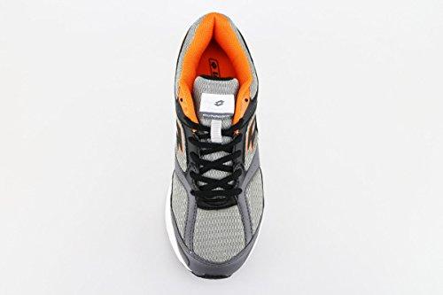 LOTTO sneakers hombre gris Textil negro cuero AG132