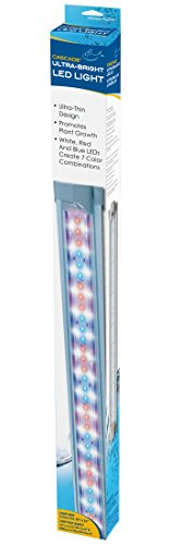 Penn-Plax Ultra-Bright LED Aquarium Lights, Extendable 28″ – 34″, with Red, Blue, White LED Lights, Remote Control Operated, for Larger Fish Tanks