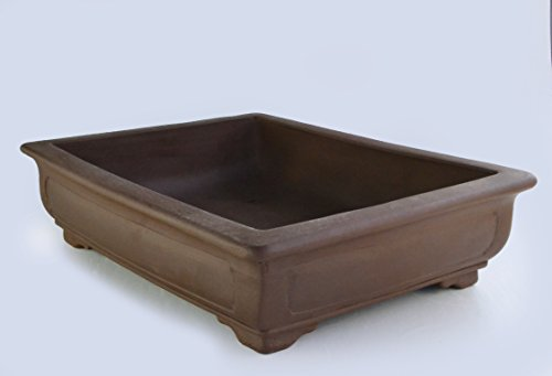 Unglazed 24'' Rectangular Yixing Purple Clay Ceramic Bonsai Pot(PA9-24) by BonsaiSupplies