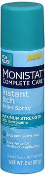 Monistat Complete Care Instant Itch Relief Spray - 2 oz, Pack of 6