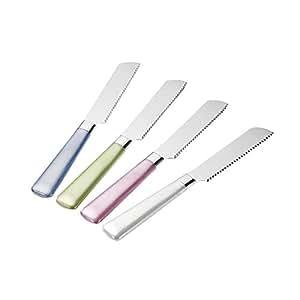 Breakfast Knifes 4 Rose/Green/Blue/White