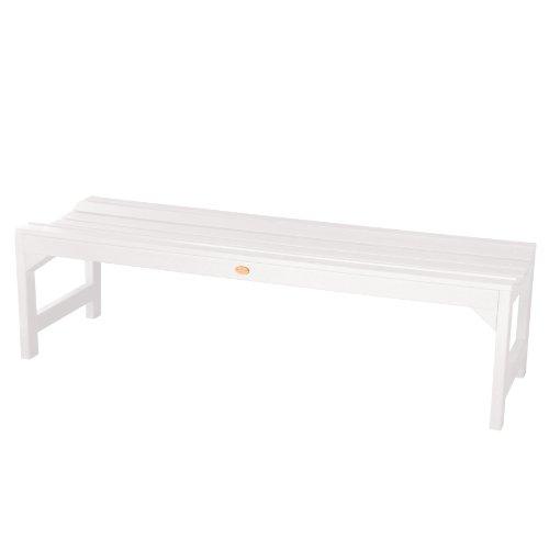 Highwood lehigh banco sin respaldo de madera sint tica eco friendly color blanco - Banco de madera blanco ...