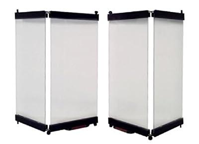 """Heatilator Replacement Prefab Fireplace Glass doors 36"""" (Black) by EZ Door"""