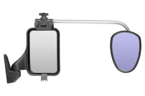 REPUSEL universal towing mirrors - Luxmax, convex ANTI GLARE blue tinted glass, and EXTRA long arm (per pair) by REPUSEL