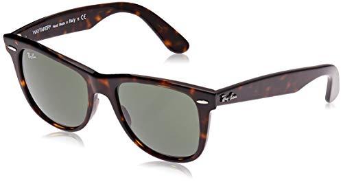 Ray-Ban RB2140 Original Wayfarer Sunglasses, Tortoise/Green, 54 mm (Ray Ban Wayfarer Green)