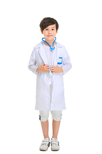YOLSUN Lab Coat Role Play Costume Set for Kids, Boys' and Girls' Lab Dress up and Play Set (4-5Y, White) by YOLSUN (Image #1)'