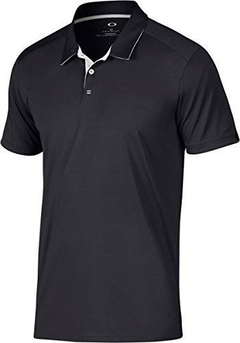 Oakley Men's Standard Divisonal Polo, Blackout, X-Large