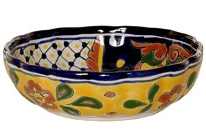 Talavera Scalloped Bowl - 8.25