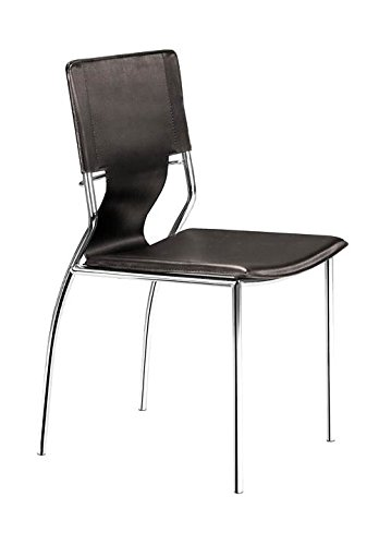Zuo Trafico Dining Chair (Set of 4), Espresso ()