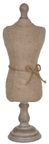Sheffield Home Burlap Jewelry Holder Bodice, 27-Inch, Taupe
