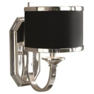 (Tuxedo Wall Sconce by Uttermost - R137079, Finish: Silver, Shade: Black)