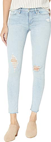 Hudson Jeans Women's NICO Midrise Super Skinny Ankle 5 Pocket Jean, Worn Crystal Blue, 31