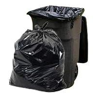 """Plasticplace Bolsas de basura de 65 galones │ 1.5 mil │ Revestimientos de basura de gran capacidad de uso pesado negros │ 50 """"x 48"""" (50 unidades)"""