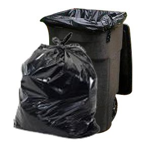 "Plasticplace 65 Gallon Trash Bags │ 1.5 Mil │ Black Heavy Duty Garbage Can Liners │ 50"" x 48"" (50 Count) by Plasticplace (Image #5)"