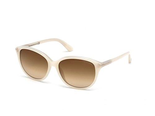 Tom Ford Sunglasses - Karmen / Frame: Opalescent White Lens: Brown ()