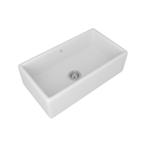 Rohl Shaw Apron Sink (ROHL RC3318WH White Shaws Original (Lancaster) Single Bowl Apron Front Fireclay Kitchen Sink)