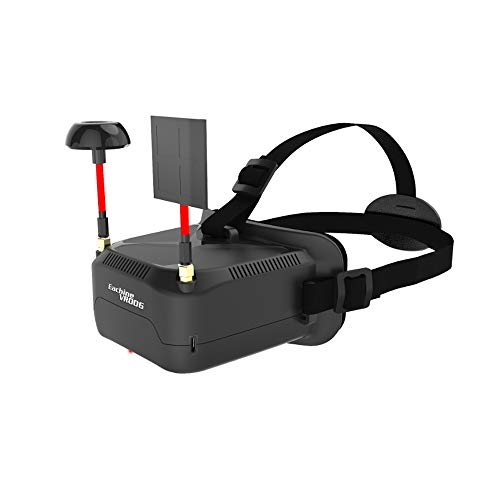 Eachine VR006 Mini FPV Goggles Headset VR-006 3inch 500300 Display 5.8G 40CH Build in 3.7V 500mAh Battery for RC Racing Drone Quadcopters by Crazepony