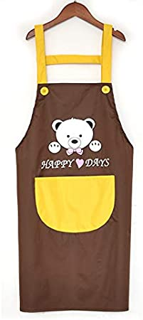 Grill and Baking K58 Duschvorhang Kitchen Oil-Resistant Apron with Pockets Professional Stripe Chef Apron for Cooking
