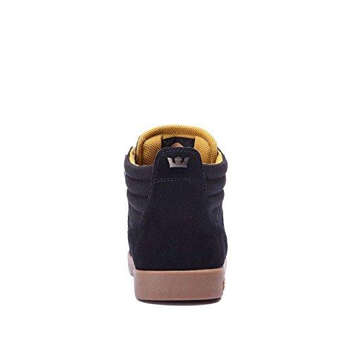 Supra ELLINGTON, Sneaker basse Uomo Black/Amber Gold/Gum
