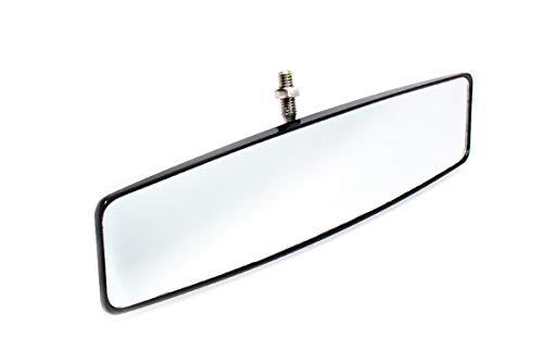 UTV INC 3/8-16 Threaded Black Anodized Billet Aluminum Panoramic Convex Rear View Mirror
