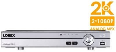 Lorex 8 Channel 2K Super HD Analog MPX Security Surveillance 2TB DVR DV8082