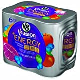 v8 fusion energy drink - V8 V-Fusion Pomegranate Blueberry Flavored Vegetable & Fruit Juice + Energy, 8 oz, 6pk(Case of 2)