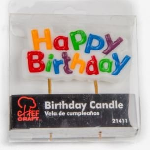 Amazon.com: Candles - Happy Birthday Single Candle: Kitchen ...
