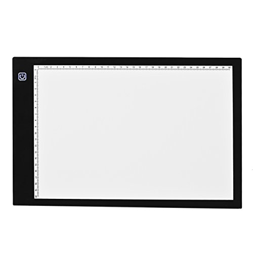 Tracing Board, Newcomdigi A4 Tracing Light Box Tracing Table Tablet Drawing Light Box Pad Led Light Pad USB Powered for Artcraft, Aniamtion, Sketching, Designing, Stencilling (12.2 x 8.27 inches)