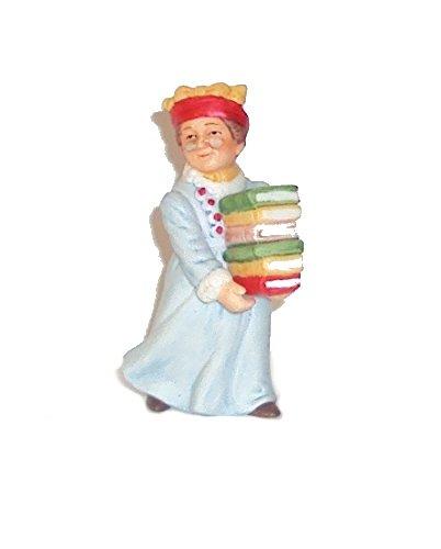 Geo Z Lefton 01343 Colonial Village Abigail Mason Librarian Figurine