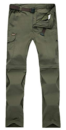 fe99e61a59bdf Women's Lightweight Quick Dry Cargo Convertible Hiking Tactical Pants with  Pocket, Women Army Green, Tag M = US 4